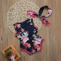 Jual Jumper flower rumbai + bando | baju anak bayi import mu Murah Murah
