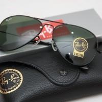 Jual jual kacamata rayban sunglass aviator pria wanita Murah