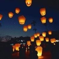 Jual lampu lampion terbang sky lantern barang unik china res Berkualitas Murah
