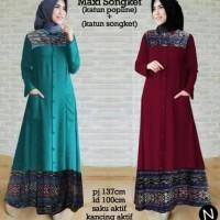 Jual Baju Murah 7830 maxi songket/maxi dress/dress muslim/baju muslim/baju Murah