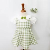 Felize Matcha Green Mosfit Dress Anak Perempuan size 2L 3L 4L