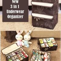 Jual (HARGA MURAH) New 3in1 Underwear Organizer (Bahan lebih tebal, bisa Murah