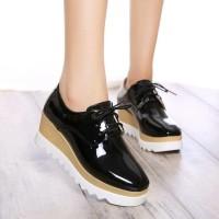 Jual Sepatu Boots Wedges Wanita Glossy SBO320 Murah