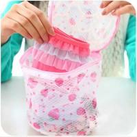 Jual Keranjang Cucian Pakain Dalam Underware Bra / Laundry Bag Bunga - X419 Murah