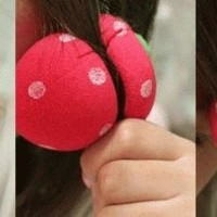 Jual New Magic Strawberry Roll Sponge Hair Curler (1 Pack = 6 Pcs) - Ikal A Murah