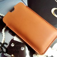 "Leather Case Pouch OPPO A37 4G LTE ( Sarung Tempat HP 5"" inch )"