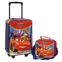Jual Set Koper Cars McQueen dan Lunch Bag Anak Bahan Sponge Tahan Air Merah Murah