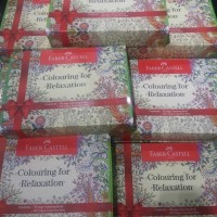 Jual Faber Castell Colouring For Relaxation Gift Box / Set Buku Mewarnai Murah
