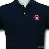 Jual Kaos Polo Shirt CAPTAIN AMERICA High Quality - Mey Mey Cloth  Murah