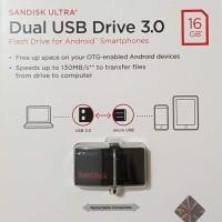 Sandisk OTG USB 3 Flashdisk 16GB 130MB/S Dual Drive USB 3.0 16 GB OTG