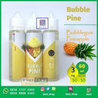 Jual Bubble PINE Pineapple BUBBLEGUM| 60 mL 3 mg| Vape Liquid LOKAL Murah