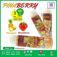Jual PINABERRY Pineapple + Strawberry | 60 mL 3 mg | Liquid LOKAL PREMIUM Murah