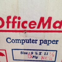 Continuos Form Office Max 91/2 X 11inch , 5 Ply bagi 2-GO SEND
