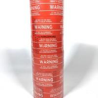 Lakban Warning, lakban tulisan Warning