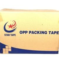 Lakban 2 inch Star Tape warna Coklat 90 yards per dus
