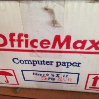 Continuos Form Office Max 91/2 X 11inch , 5 Ply-GO SEND