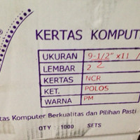 Kertas Continuos Form Bagi 4, Rangkap 2,Kertas Wartel Rangkap2 GO SEND