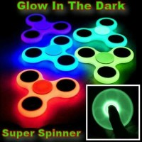 Fidget Hand Spinner Glow in the dark Toy spinner mainan jari putar