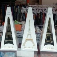 Jual Gift Set Kado Pajangan Meja Menara Eiffel Paris Besar Logam Import Murah