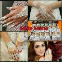 Jual Golecha Henna Putih/White Body Painting Mahendi Limited Murah