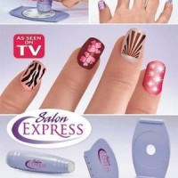 Jual Salon Express / Nail Art Stamping Kit , Decorate Your Nails Like A Murah
