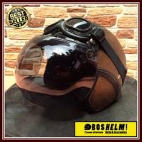 Helm Motor Bogo Retro Google Kulit Lek Ono / Helm Retro TERLARIS!!!
