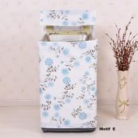 Jual Cover sarung mesin cuci buka atas anti panas air motif bunga - HHM451 Murah