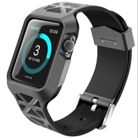 Jual I-BLASON Unity Series Apple Watch Series 1 / 2 / 3 38 mm Hybrid Black Murah