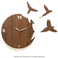 Promo!! Jam Dinding Unik Artistik - Flying Bird Wall Clock