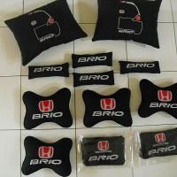 Jual Car Pillow / Bantal Mobil Honda BRIO / Car Set 4 in 1   Murah