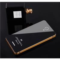 Jual Aluminium Tempered Glass Hard Case For Xiaomi Redmi Note 2 - BlackGold Murah
