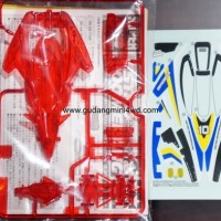 Jual Tamiya Loose Part Body & Decal Astro Boomerang Clear Red Special Murah