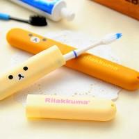 Tempat Sikat Gigi Rilakuma Rilakkuma Rilakumma Traveling Toothbrush