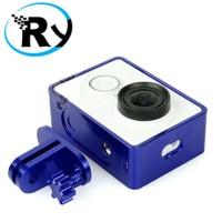 Jual TMC Aluminium Side Frame for Xiaomi Yi Action Camera - HR285 - Blue Murah