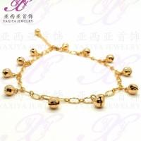 Terbaru Gelang Kaki Lapis Emas Golden Bells Perhiasan Imitasi 18K