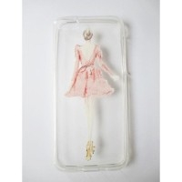 CASING HP SOFT SILICONE TIPIS IPHONE 5C PINK DRESS GIRL LADY
