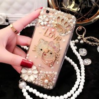 CASING HP OPPO F1 /A35, NEO 7 /A33, NEO 9 /A37 LUXURY DIAMOND PEARL