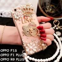 CASING HP OPPO F1S /A59, F1 PLUS /R9, R9 PLUS LUXURY DIAMOND PEARL