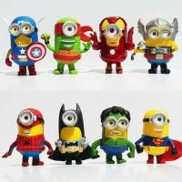 Jual minion super heroes 8 karakter kualitas bagus Murah