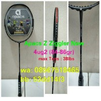 Raket Badminton APACS Z Zigler ! Tarikan bs sampai 38lbs , 100% Ori