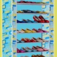 3 kg rak sepatu 10 tingkat bagus RS 10 CHP blue yellow