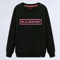 black pink - baju murah atasan kaos cewek wanita remaja lengan panjang