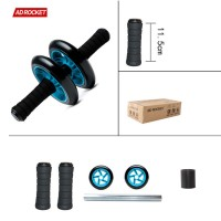 SOLID AB WHEEL : Fitness Abs Iron Wheel Roller Roda Alat Sit Up Import