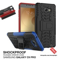 Armor Case Samsung Galaxy C9 Pro Shockproof Hybrid Hard & Soft Casing