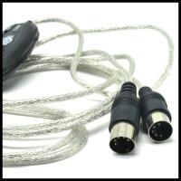 GRATIS ONGKIR! 5-PIN USB MIDI CABLE CONVERTER PC TO MUSIC KEYBOARD