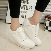 Jual Sepatu Wanita Cewek Sepatu Wanita Wedges Boots Pillow Putih Murah