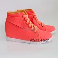 Jual Sepatu Wanita Cewek Sepatu Boots Wedges Wanita Sb21 Elstore Bogor Murah