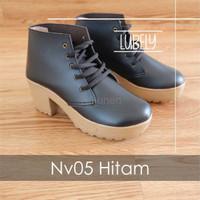 Jual Sepatu Wanita Cewek Nv05 Sepatu Wedges Boots Wanita Platform Murah
