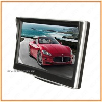 Car Monitor 5 inch TFT LCD Color Rearview Monitor for DVD, GPS, Cam