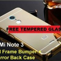 Aluminium Bumper Case Mirror Xiaomi Redmi Note 3 PRO RIngke Ipaky Army